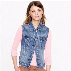 Jcrew Indigo Denim Vest